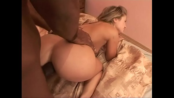 Painful ass fucking for a white blondie