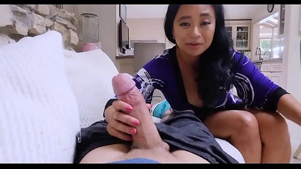 Hot mom helps injured son cock