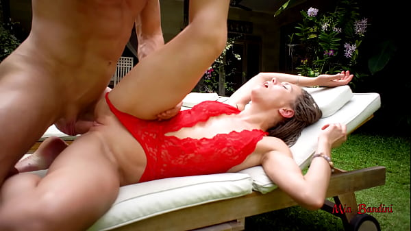 FIT TEEN PASSIONATE FUCKED AND FACIALIZED NEAR THE OUTDOOR POOL. MIA BANDINI Thumb