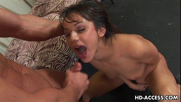 Nadia Styles is brutally facefucked and cummed on
