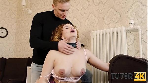 TUTOR4K. Instead of learning English guy seduces his experienced tutor Thumb
