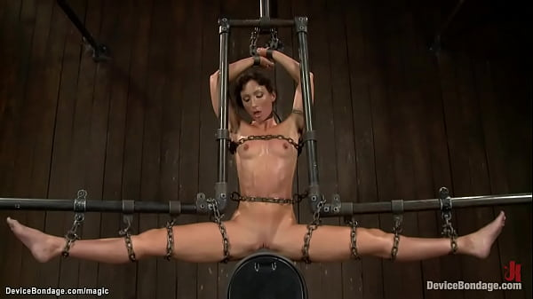 Bound lesbian ass hooked and toyed