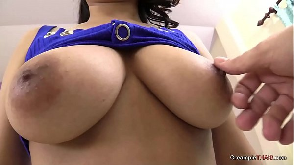Big titty Thai amateur gets barebacked by sex m...