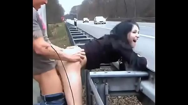 Roadside hard fuck