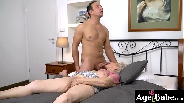 Rob is ready to help Norma Bs needs for a cock to bang her wrinkled twat