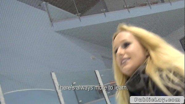 Huge tits Czech blonde banged in locker room  thumbnail