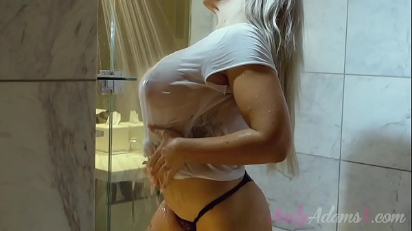 BIG TITS BUSTY PORNSTAR WET TSHIRT IN THE SHOWER Thumb