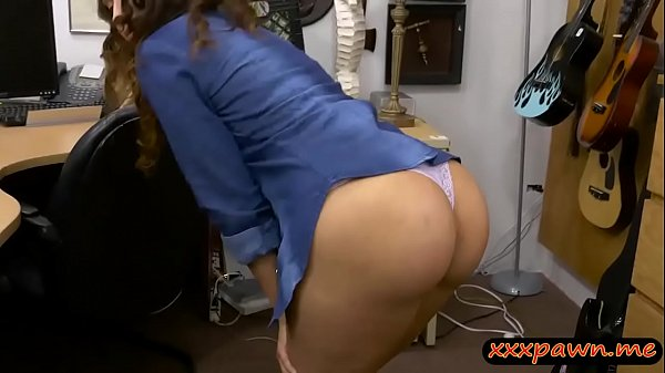 Brunette woman drilled by perv pawn guy in his pawnshop