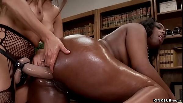 Huge black ass lesbian anal fucked