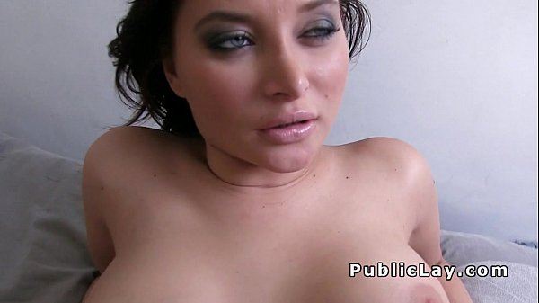 Busty French babe fucks for cash