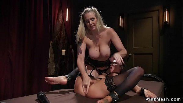 Milf dominatrix whips busty lesbian Thumb