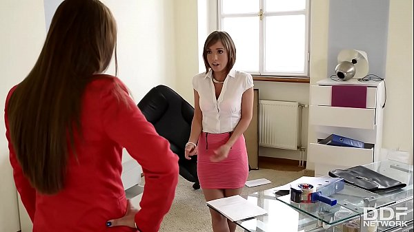 Dominant Boss Brandy Smile Analyzes submissive Tina Hot... thumbnail