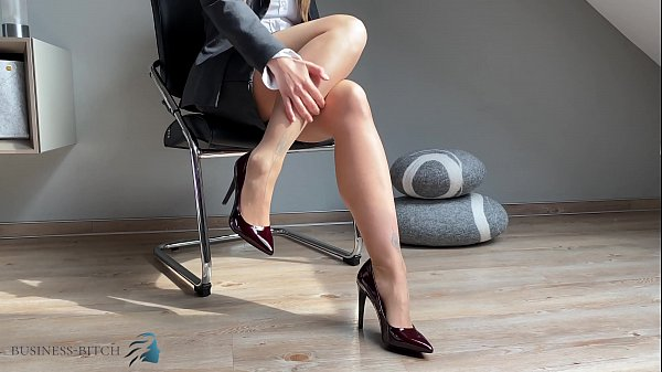 secretary feet in pantyhose and high heels, Business Bitch Thumb