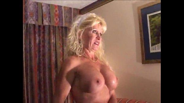 Busty Mature Blonde Bitch in Interracial Scene