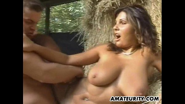 Very busty amateur girlfriend in action with facial Thumb