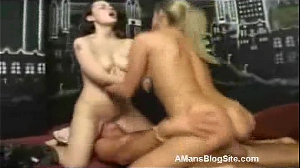 One Guy Creampies Two Girls