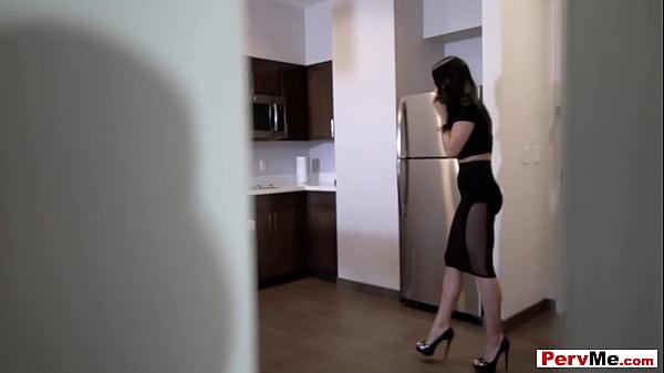 Brunette Italian stepmother has a sex addiction problem