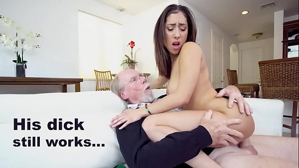 Grandpa Jack Moore Buries His Old Pecker In Step Granddaughter Kira Perez's Tight Latin Pussy
