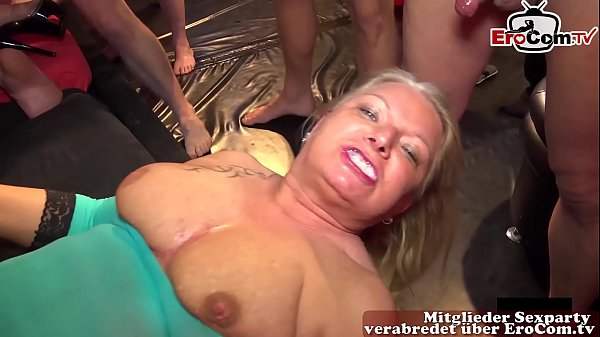 german housewifes at creampie groupsex party wi...
