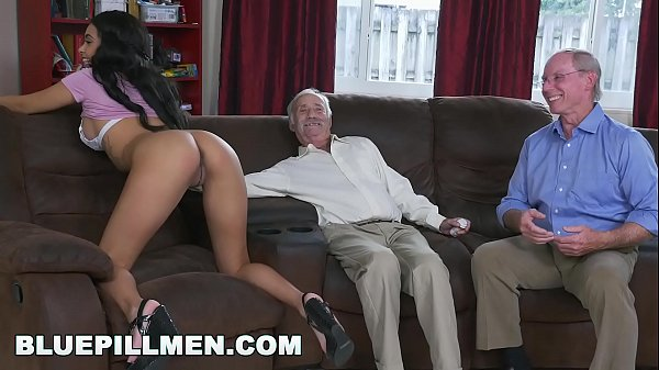 BLUE PILL MEN - A Couple Of Old Men Have Fun With Young Black Goddess Aaliyah Hadid Thumb