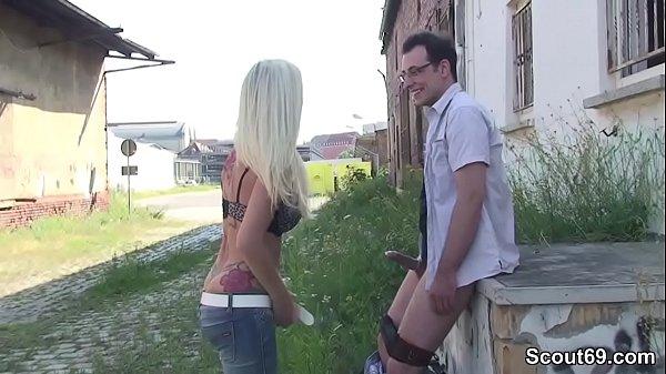 Cute German Teen Seduce to Fuck Outdoor by Stranger Thumb