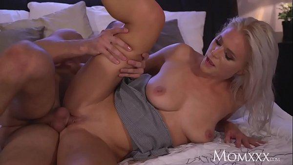 MOM Amazing all natural big tits MILF rides a big rock hard shaft