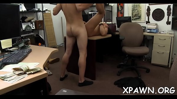 Intense playgirl has sex in shop