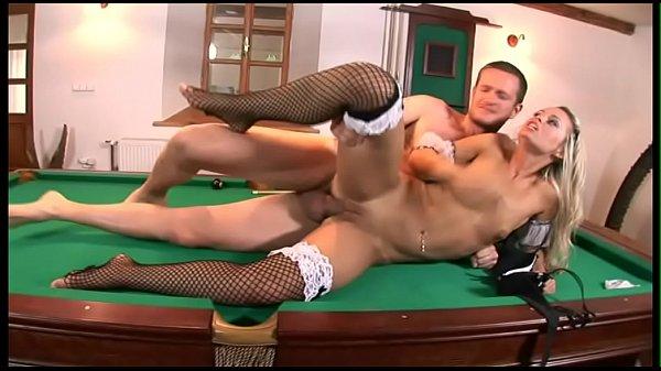 Housekeeper fucked on the billiard table Thumb