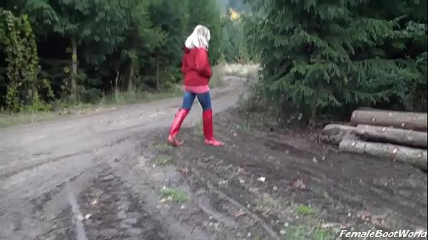 Rain Boots in Woods  thumbnail