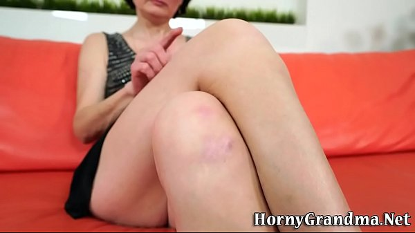 Old granny tugs for cum