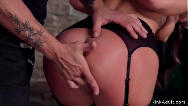 Brunette trainee in lingerie fucked