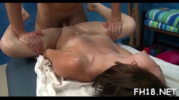 Gorgeous 18 year old gal gets a massage and a a lot more from her massage therapist, jake!