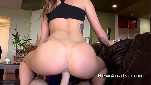 Perfect booty brunette anal fuck pov