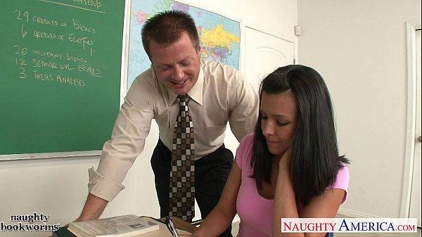Small breasted coed Danica Dillon fucking in the class
