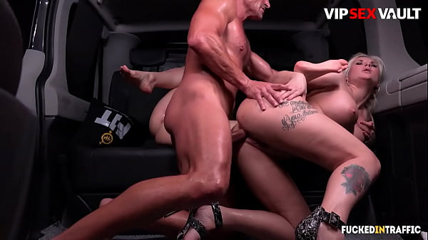 FUCKED IN TRAFFIC - (Sicilia, Jarushka Ross & George Uhl) Wild Threeway With The Uber Driver