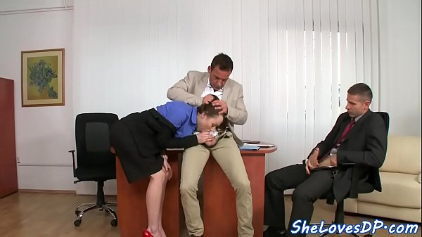 DP screwed business woman loves high heels Thumb
