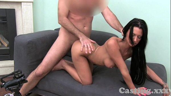 סרטי סקס Casting HD Black haired temptress loves doggy style