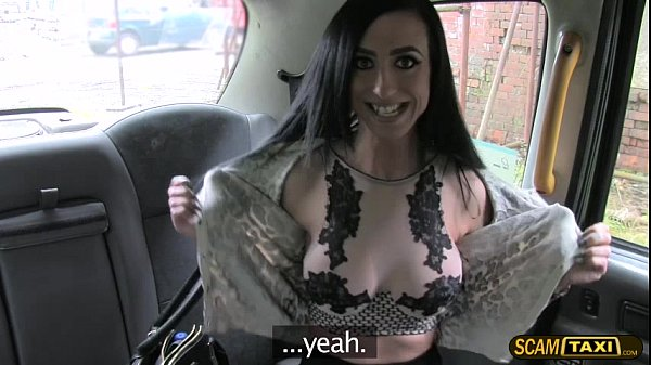 Brunette chick Skylar sucks and fucks hard inside the taxi