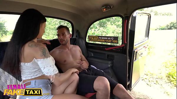 Female Fake Taxi Billie Star fucking a Dutch guy who has a bendy banana cock Thumb