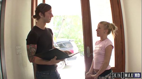 Skinny Teen Fucks Her Big Dick Neighbor