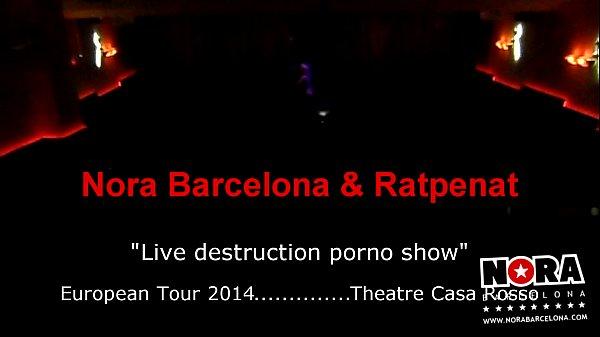 Live destruction porno show