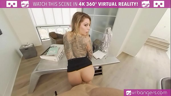 VRBangers.com-Sexy Tattooed Secretary Karma RX Takes A Big Boss Dick
