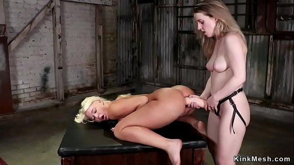 Brunette anal fucks MILF with monster