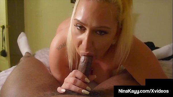 Hefty Nina Kayy Fucks A Big Black Cock All Over The House!