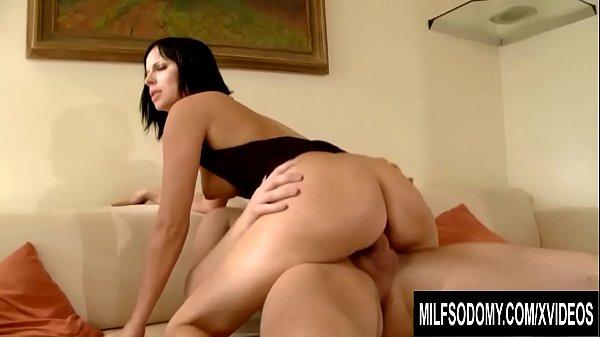 Elegant MILF Renata Black takes his cock in all three holes