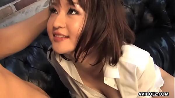 Japanese slut, Runa Kanzaki got oiled up and fucked, uncensored