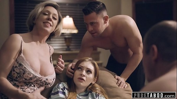 PURE TABOO Step-Parents & Step-Bro Welcome New Sister to Perv Family Thumb