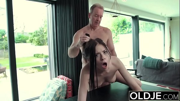 Hardcore Fuck For Teen Sucking cock swallows cum Getting Fucked By Old Man