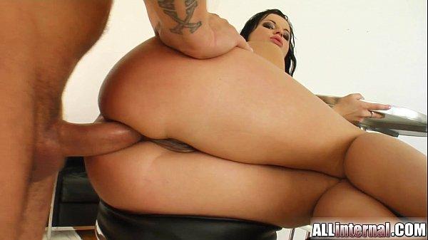 Allinternal Renata gets creampie in the ass