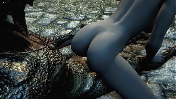 Argonian gets laid with a lonely young woman Thumb